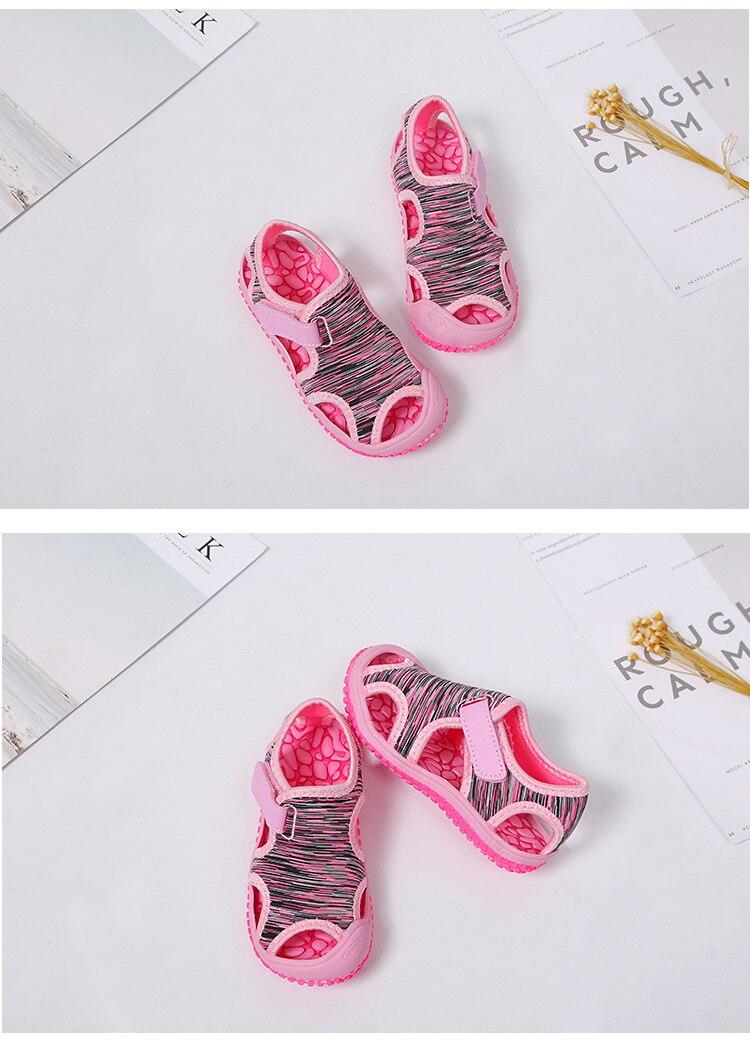 Sandálias de Praia Fundo Macio Não-deslizamento Infantis