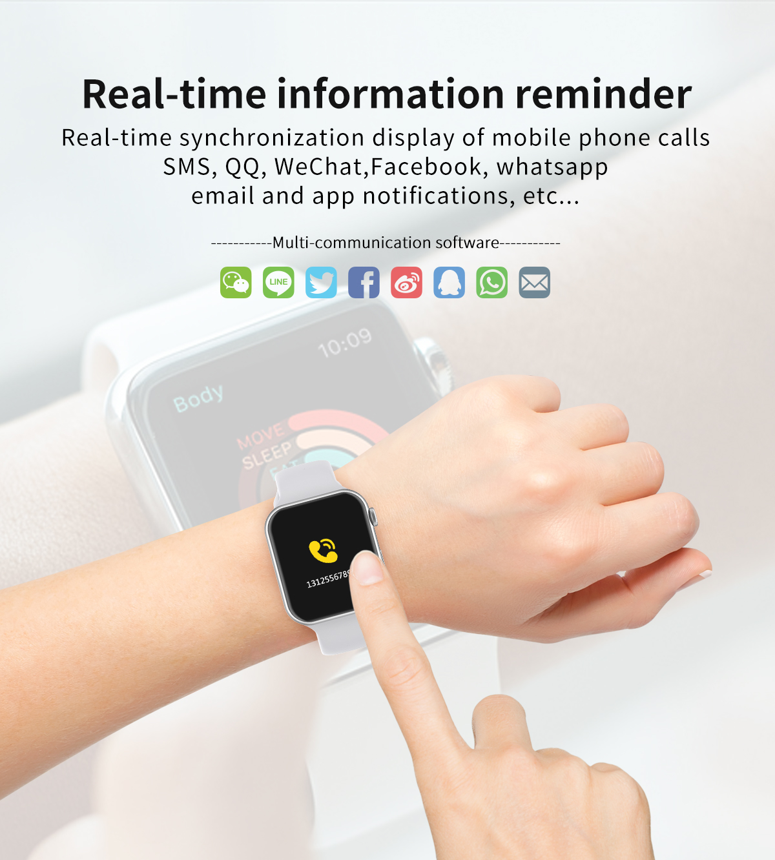 Hdb9364e95fae4a60889f4f512cdead7bL 696 New Style F10 Smart Watch Full touch screen Bluetooth Smartwatch Music Camera Heart Rate Monitor Waterproof Smart Bracelet