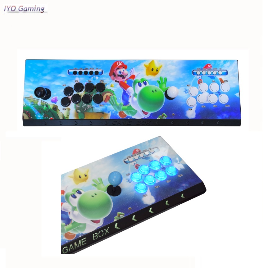 IYO Pandora Box 3D WiFi аркадная коробка 2448 134 * 3D игры Нулевая задержка 8 кнопок джойстик 2 игрока контроллер Ретро игра аркадная консоль