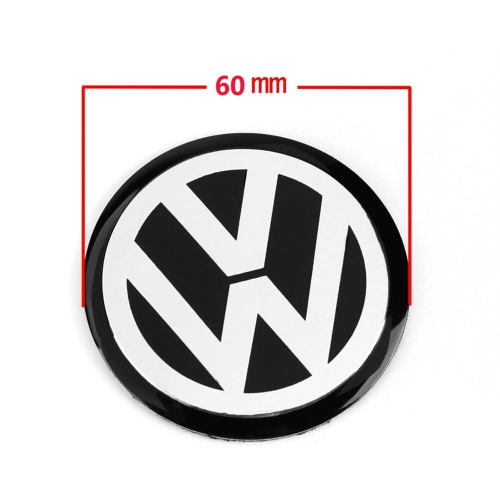 4 шт., 60 мм, 6 см, черная Центральная втулка колеса автомобиля, значок, эмблема VW, логотип, наклейка, наклейка на колесо, Стайлинг для VW|Наклейки на автомобиль| | АлиЭкспресс