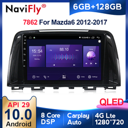 6G +128G QLED 4G LTE RDS Carplay Android 10 For Mazda 6 3 GL GJ 2012-2017 car stereo auto audio GPS Navigation screen multimedia