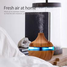 300ml USB Electric Aroma air diffuser wood grain Ultrasonic air humidifier cool mist maker with 7 colors lights for home цена и фото