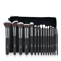 MSQ Pro 15Pcs Makeup Brushes Set Powder Foundation Eyeshadow Make Up Brushes Cosmetics Soft Synthetic Hair