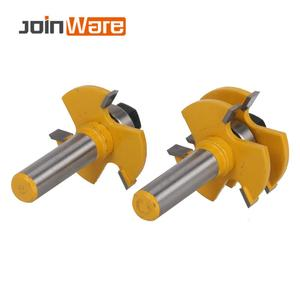 Image 5 - 2 Pc לשון & חריץ משותף הרכבה נתב קצת סט המניה עץ חיתוך כלי 12.7mm שוק