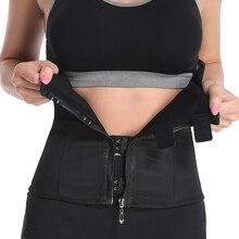 Latex Waist Trainer Corset Plus Size Body Shaper women slimming shapewear Weight Loss Belt Waist Cinchers Zipper Hook Waistband