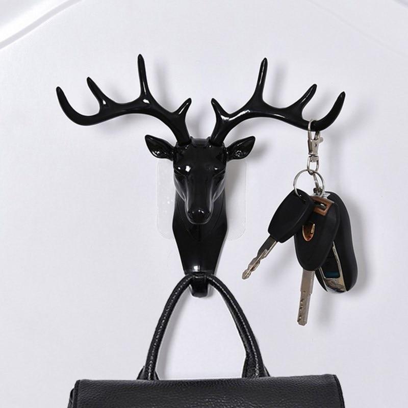 Wall Hanging Hook Vintage Deer Head Antlers for Hanging Clothes Hat Scarf Key Deer Horns Hanger Rack Wall Decoration 5