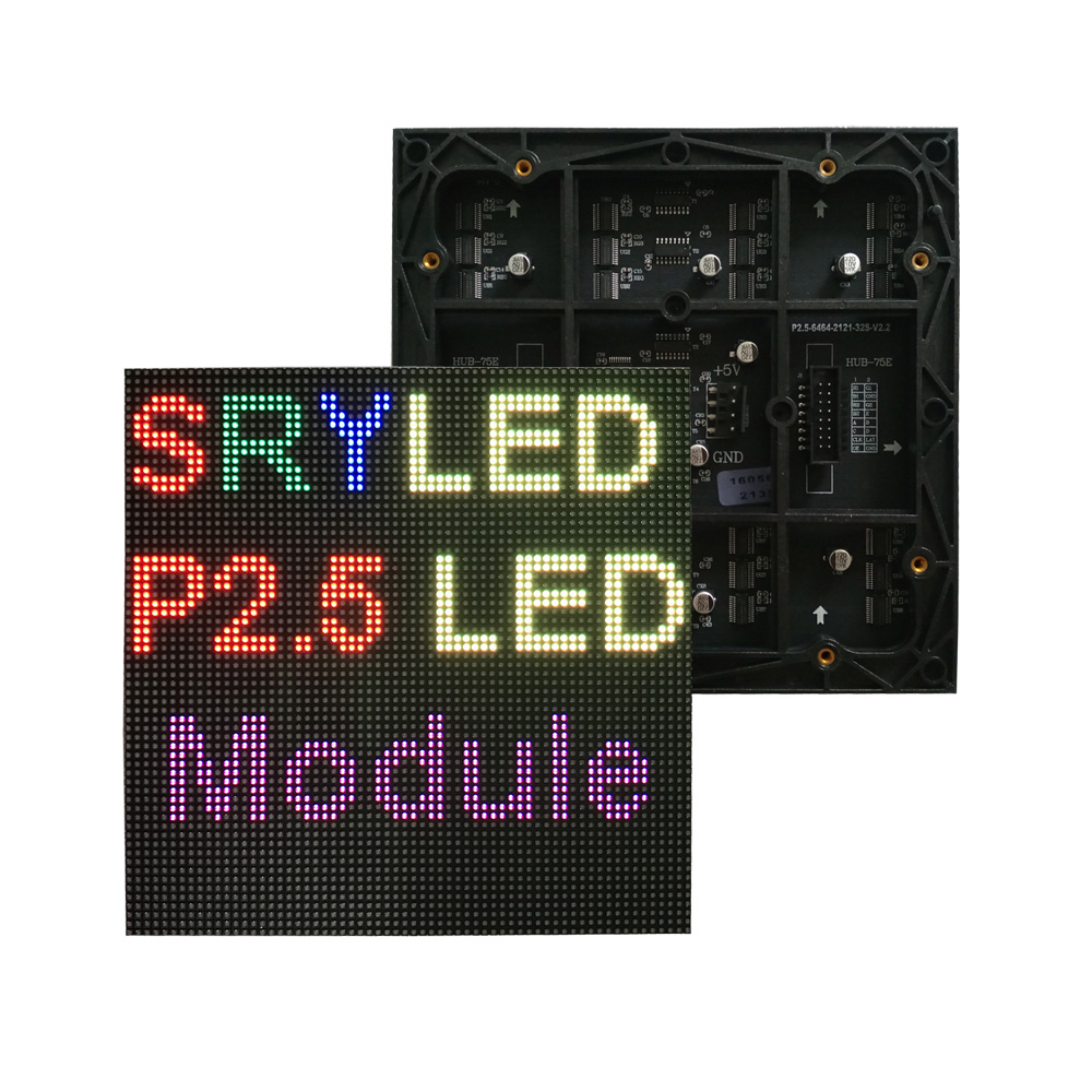 P2.5 Indoor 64x64 LED Display Module Full Color For Advertising