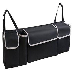 Image 4 - ออแกไนเซอร์รถTrunk Adjustable Backseat Storageกระเป๋าสุทธิความจุสูงMulti ใช้Oxfordรถยนต์ที่นั่งกลับOrganizer Universal