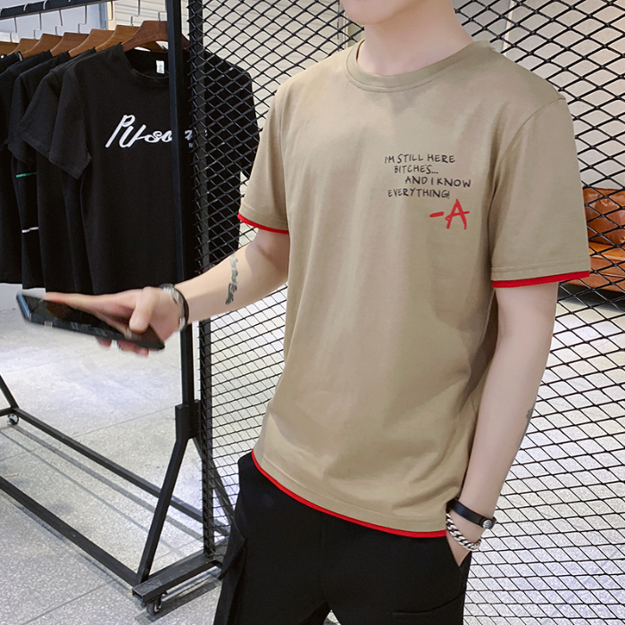 Image 3 - Summer men round collar thin with short sleeve T shirt mens clothing han edition cultivate ones morality men half sleeve shirtT-Shirts   -