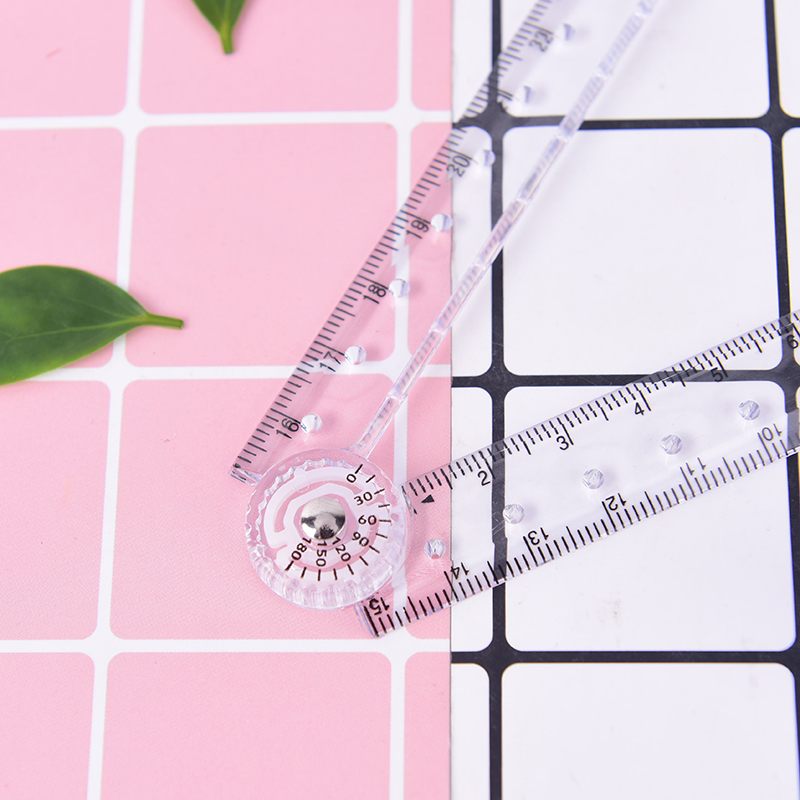 1PC Clear Plastic Acrylic Folding Straight Rulers 30cm Drawing Kid School Supplies Measuring Drawing Tool Foldable Stationery