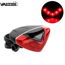цена на Waterproof  Bicycle Tail Mini LED Rear Light 4 Modes Safety Warning Bike Light Moutain Road Bike Rear Saddle Lamp