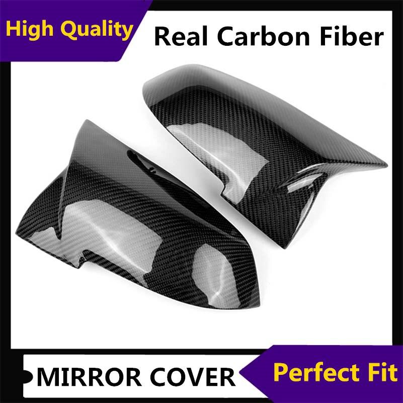 1 paire de couvercle de rétroviseur en fibre de carbone pour bmw F20 F22 F30 F35 F34 F32 E84 2012-2018 ABS matériau garniture de couvercle de rétroviseur latéral