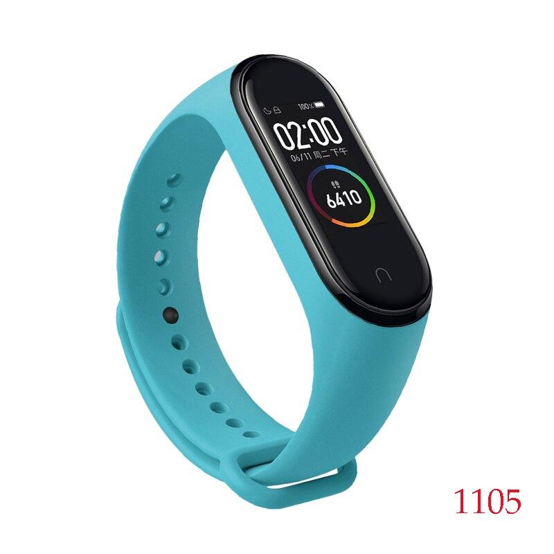 Для Xiaomi Mi Band 4/3 ремешок Металлическая пряжка силиконовый браслет аксессуары miband 3 браслет Miband 4 ремешок для часов М - Цвет: 1105