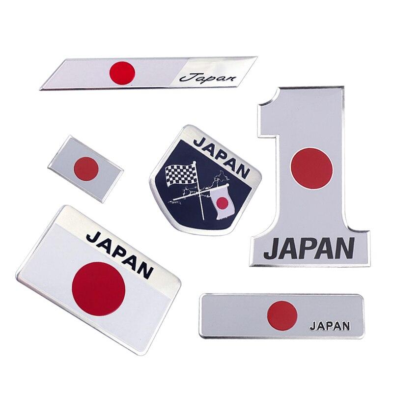 Insignia del emblema de la bandera japonesa del Metal, etiqueta engomada del coche de Japón para el coche de la marca xiaoto Honda Nissan Mazda Lexus Mitsubishi Infiniti SUBARU Suzuki Envío Gratis nuevo MR583930 para Mitsubishi LANCER Outlander MR-583930