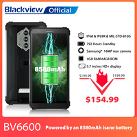 Blackview BV6600 IP68 Waterproof 8580mAh Rugged Smartphone Octa Core 4GB+64GB 5.7 1