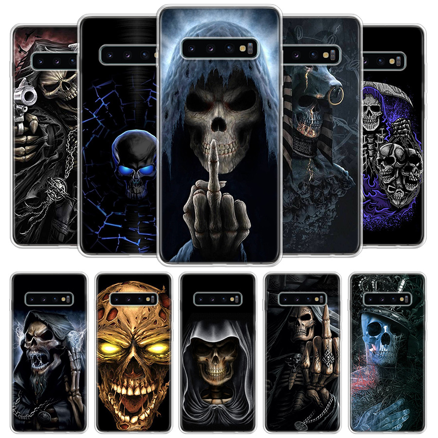 Grim Reaper Skull Skeleton Cover Phone Case For Samsung Galaxy S20 Ultra S10 Lite Note 10 9 8 S9 S8 J4 J6 J8 Plus + S7 Edge Coqu