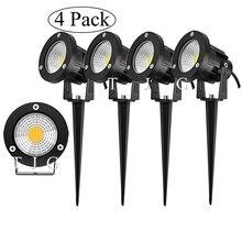 Новый стиль COB садовый светильник для газона 220 В 110 в 12 В уличсветильник светодиодный фонарь с шипами 3 Вт 5 Вт 10 Вт для дорожек ландшафта водо...