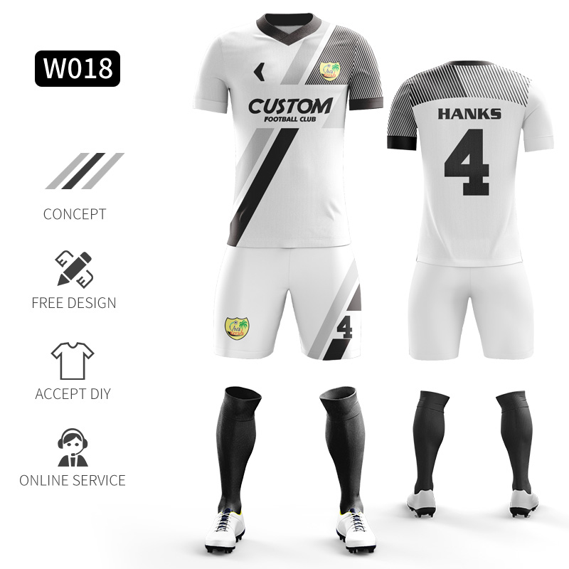Custom Football Jerseys Full Sublimation Printing Soccer Jerseys Club Team Football Training Uniform Suit Soccer Uniform For Men 14