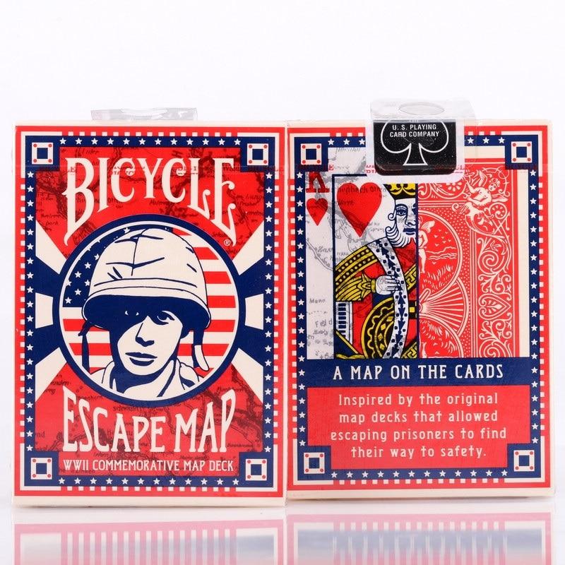 Carte d'évasion de vélo cartes à jouer plate-forme ellusionniste USPCC Poker jeux de cartes magiques tours de magie accessoires pour magicien