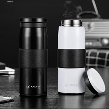 450ml thermal insulation double deck glass high borosilicate flower receptacle innovative mug coffee cup double wall insulated g 450ML New Double wall Stainless Steel 316 Thermos Coffee mug Vacuum Flask Thermal Cup Car thermo mug