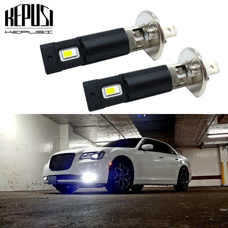 2Pcs H1 Led Bulb 3000LM 6000K White Car Fog Light Day Running Lamp LED Auto Light H1 12V 24V|Car Fog Lamp| |  - title=