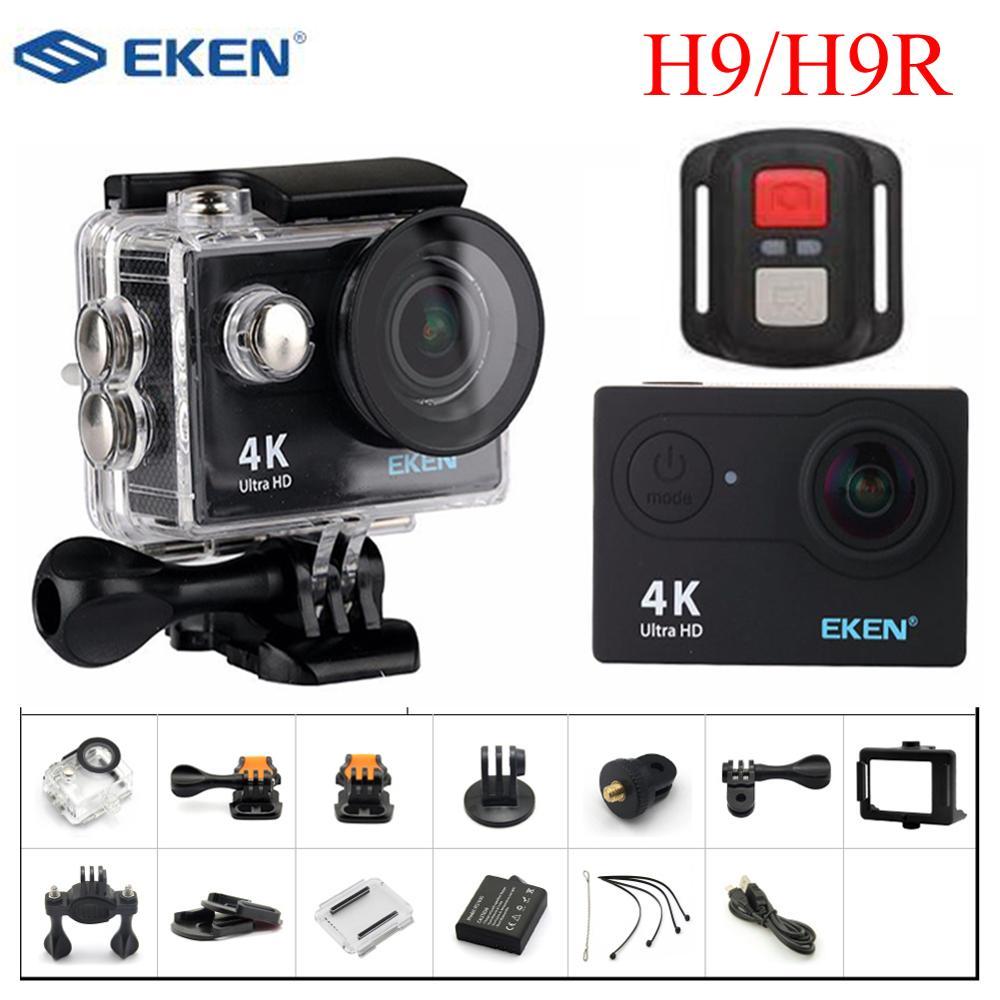 EKEN H9R/H9 caméra d'action 4K 25fps WiFi 2.0 pouces 170D étanche sous-marine casque Sport caméras Kit