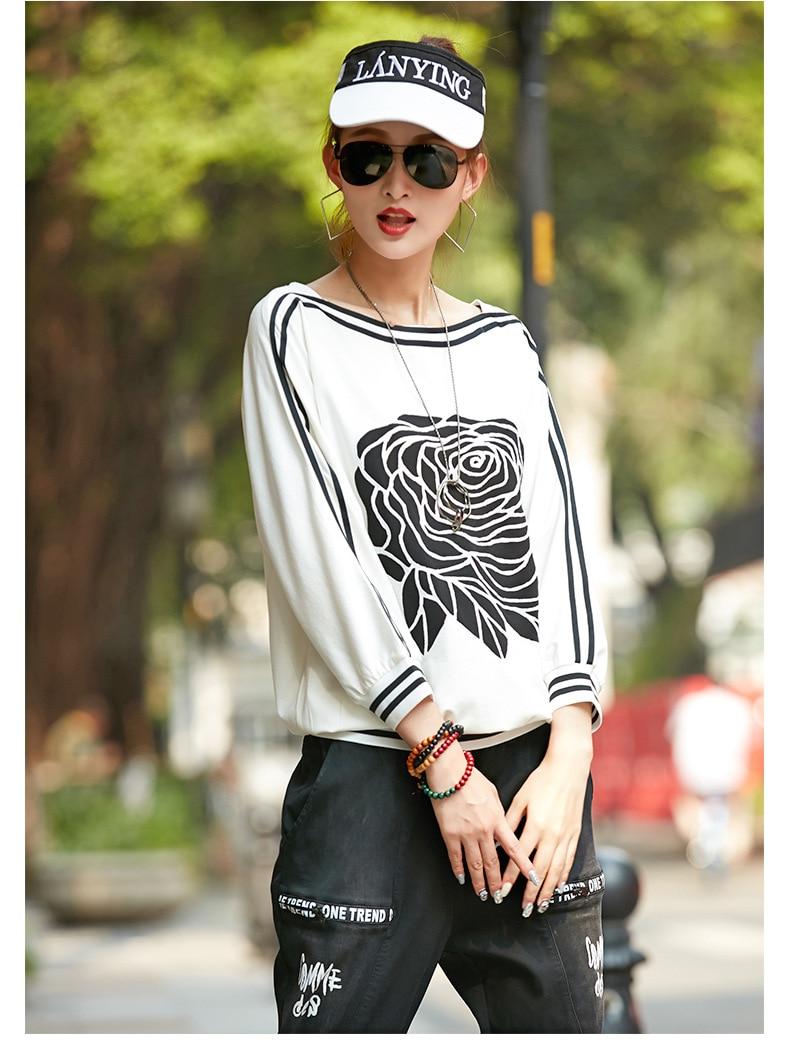 Fashion Female Long Sleeve Hoodie Pullover Sweatshirt Rainbow Hoodies Women's Sweatshirt Long-sleeved Hooded Tops Black