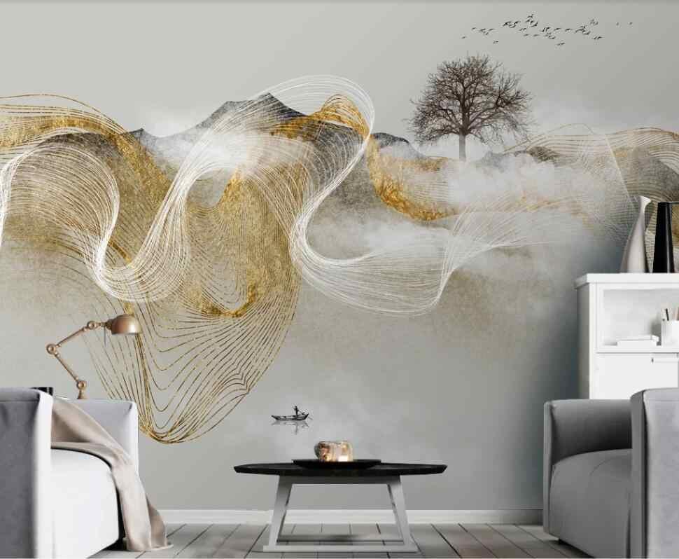 Papier peint mural Zen moderne, peinture décorative 3D