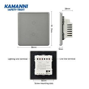 Image 5 - Kamanni interrupteur mural tactile/Off, 2 boutons, 3/4 voies, Standard américain, 1/2/1/2 boutons, noir/or/gris/vert