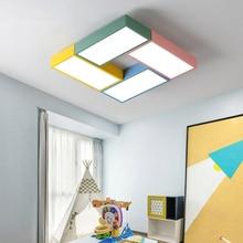Novelty Creative Lamp Kids Room Baby Girl Boy Square Ceiling Light Fixture For Children Nursery Bedroom Kindergarden