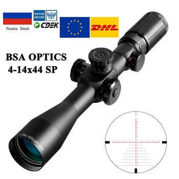 BSA OPTICS TMD 4-14X44 FFP Hunting Riflescope Optics Scope Glass Mil Dot Reticle Hunting Scope Sniper Scope Tactical Rifle - DISCOUNT ITEM  16 OFF Sports & Entertainment