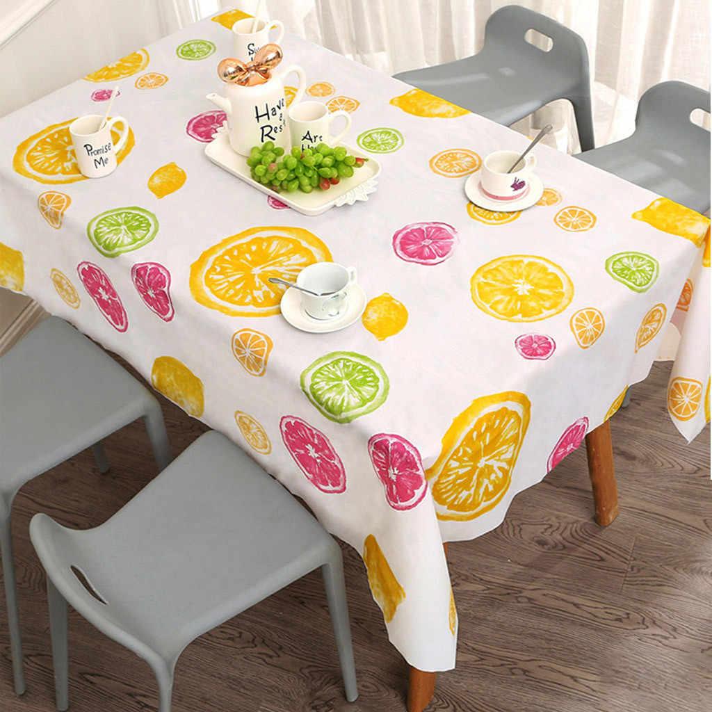 Paño de mesa impermeable a prueba de aceite para la cocina cubierta decorativa de la mesa de comedor paño de mesa rectangular cubiertas de toallitas coidas de cozzha