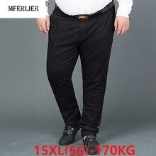 Брюки для официального костюма Для мужчин большие размеры большой 8XL 9XL 10XL 12XL 14XL, деловая, для офиса, негабаритных прямые брюки 50 52 54 60 56-58