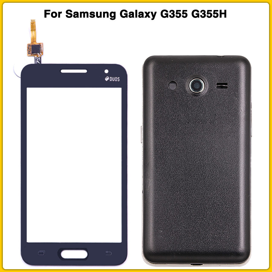 Full Housing Case For Samsung Galaxy Core 2 SM-G355H G355 G355H Battery Back Cover Middle Frame + Touch Screen Panel