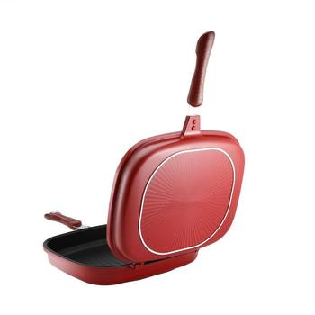 Double-Sided Frying Pan Non-Stick Barbecue Cooking Tool Stable Durable And Reliable Cookware Suitable For Home Outdoor