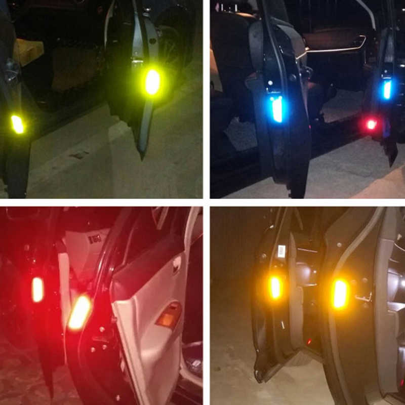 Universal Mobil Styling Pintu Peringatan Terbuka Stiker Reflektif Peringatan Keamanan Penutup untuk Hyundai Honda BMW Ford Aksesoris