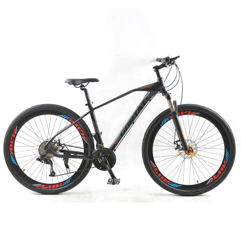 Горный велосипед GORTAT, колеса 29 дюймов, колеса 30 скоростей, рама из алюминиевого сплава, двойные дисковые тормоза с переменной скоростью