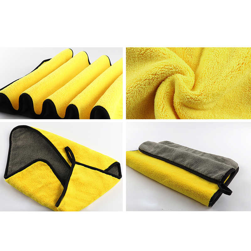 Car Wash Towel Microfiber Cleaning Extra Soft Drying Detailing Cloth 30X30cm