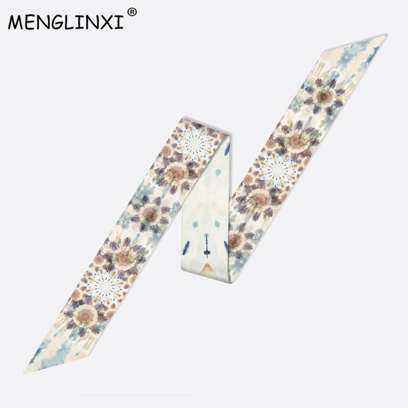 Luxury Brand 2020 New Design Constellation Scarf Women Silk Scarf Bag Hair Skinny Scarf Wrist Towel Foulard Femme Tie