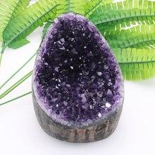 Alta qualidade uruguai pedra ametista geode cristal de quartzo cluster casa decoração exibição ametiste