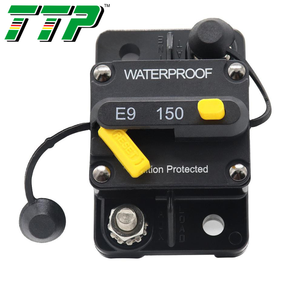 140A Circuit Breaker With Manual Reset Switch Dual Battery IP67 Waterproof