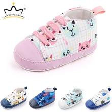 Girl Shoes Toddler Boy Infant Sneakers Anti-Slip Newborn Cotton Cartoon Cat Cute Soft