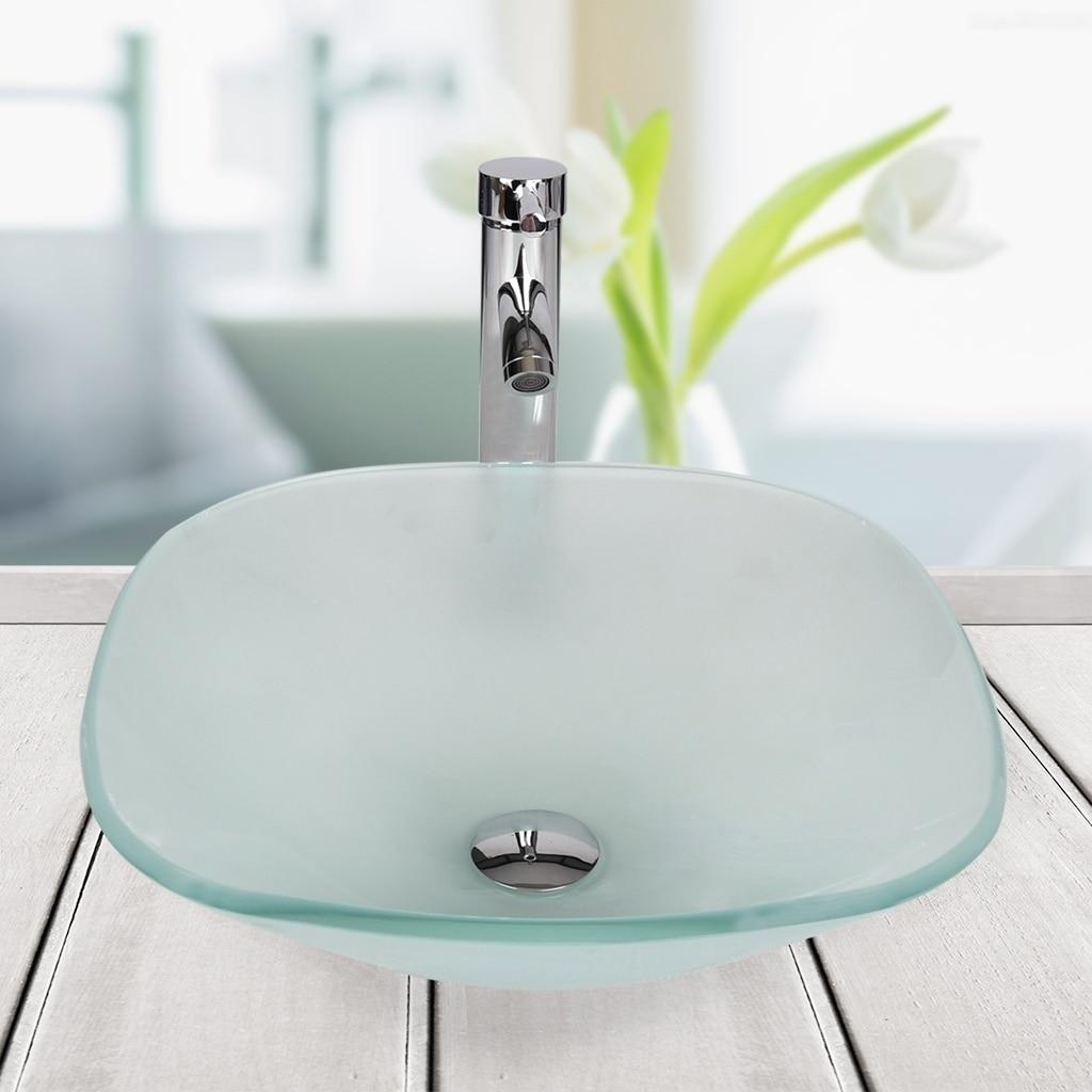 bathroom vessel sink tempered ceramic