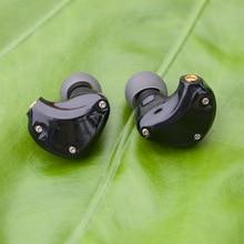 D2 Stereo hybrydowe słuchawki 1BA + 1DD MMCX słuchawki douszne HIFI wykonane na zamówienie słuchawki MMCX DJ Monitor zestaw słuchawkowy telefonu dla odtwarzaczy kablowych KZ