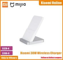 Новинка 2020, 100% оригинальное Беспроводное зарядное устройство Xiaomi с вертикальным воздушным охлаждением, макс. 30 Вт, со вспышкой, для смартфонов Xiaomi Mi