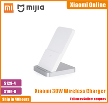 2020 New 100% Original Xiaomi Vertical Air cooled Wireless Charger 30W Max with Flash Charging for Xiaomi Mi Smartphone