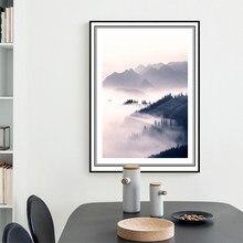 Estilo minimalista impressão em tela montanha pintura decoração nordic arte da casa fotos para sala de estar
