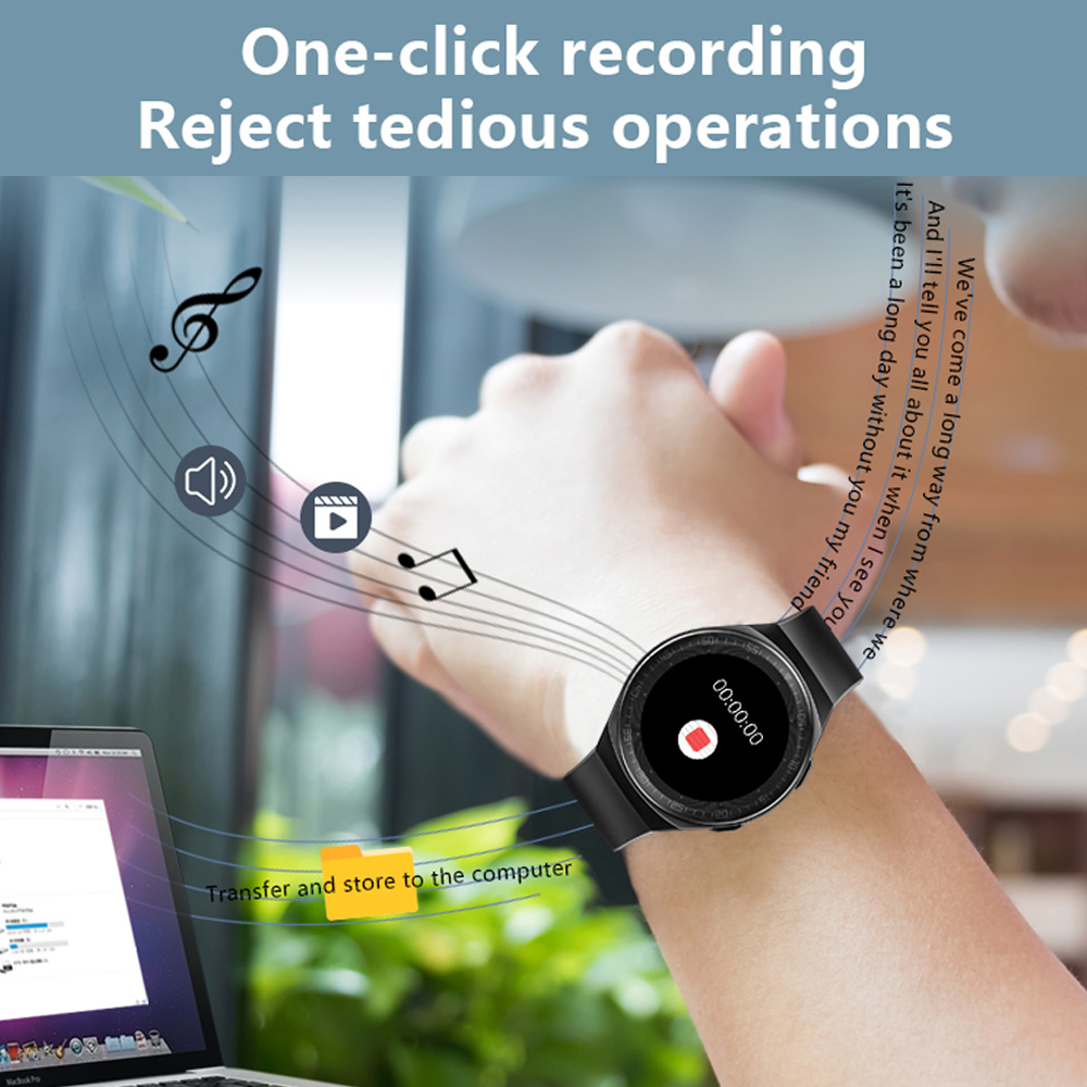 Умные часы MT-3 8G с памятью музыки, мужские водонепроницаемые умные часы с Bluetooth и сенсорным экраном, функция записи, спортивный браслет 4