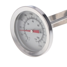 12 Stainless Steel Dial Thermometer Probe Homebrew Brew Kettle Temperature Measuring