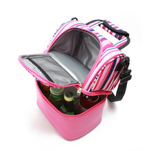 Women Double Layer lunch Bag 2020 Portable Thermal Food Lunch Bag Cooler Tote Kid School Lunch Box Milk Pouch bolsa termica Pink